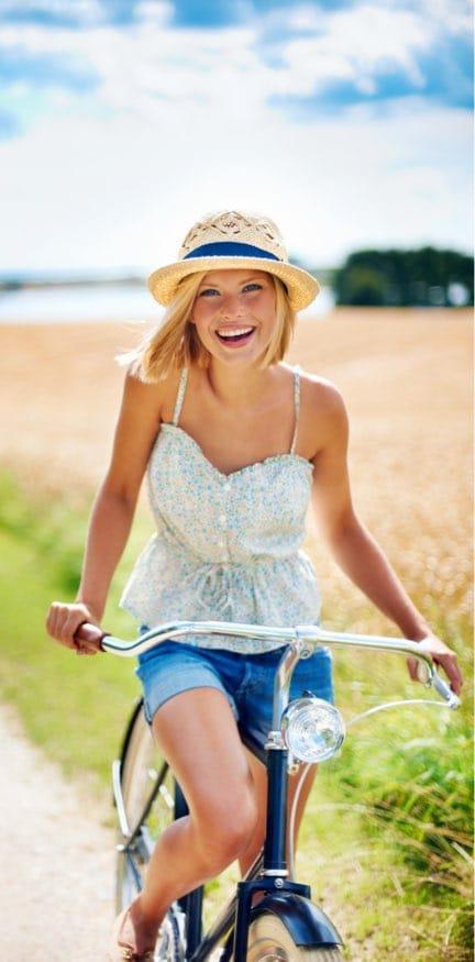 Women Enjoying Bike Ride