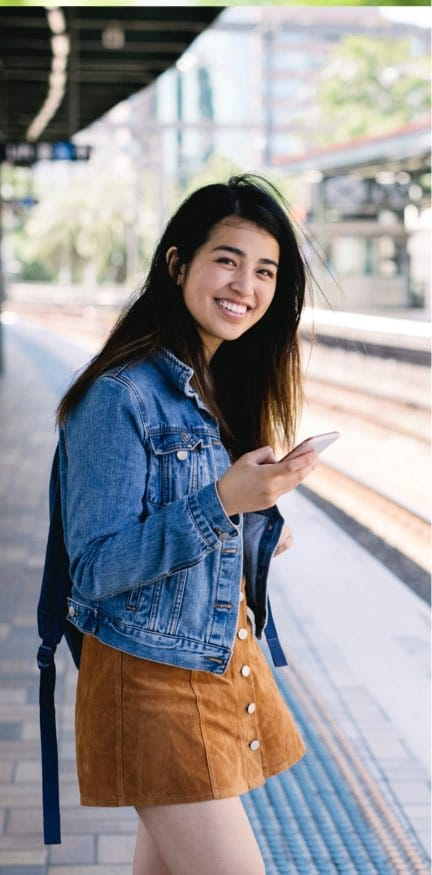 Women Using Cellphone