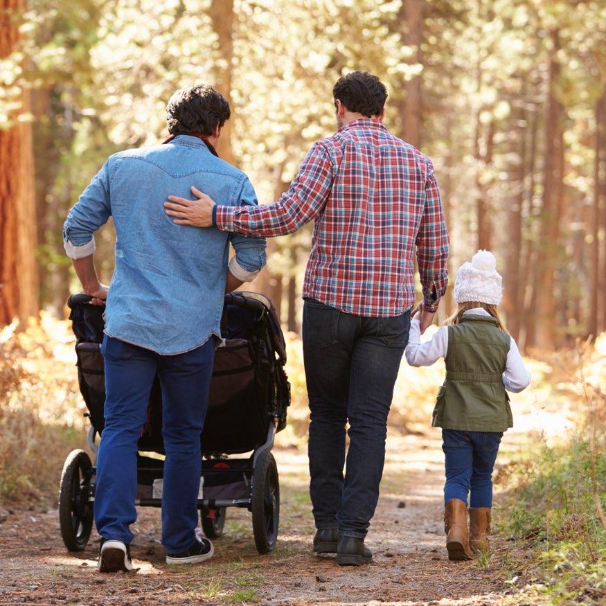 Family Walking Children